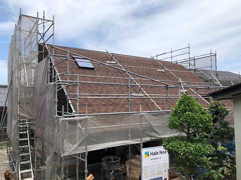 キノコノイエの屋根