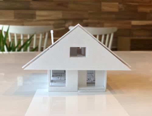 来年の新築の模型が完成しました。